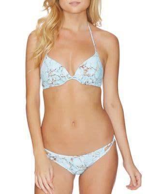 Underwire Push Up Halter Bikini Top by Reef