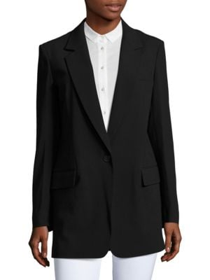 Crepe One-Button Jacket by DKNY
