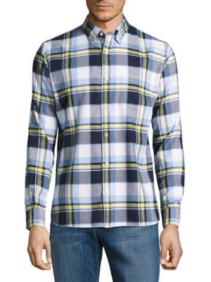 Basketweave Plaid Shirt by Brooks Brothers Red Fleece