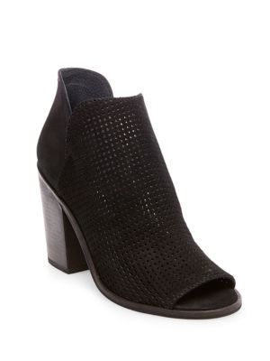 Tala Perforated Leather Open-Toe Booties by Steve Madden