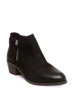 Kyle Mid-Heel Leather Booties by Steve Madden