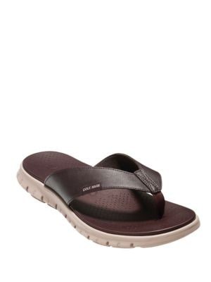 Zerogrand Leather Thong Sandals by Cole Haan