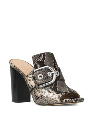 Cooper Embossed Leather Mules by MICHAEL MICHAEL KORS