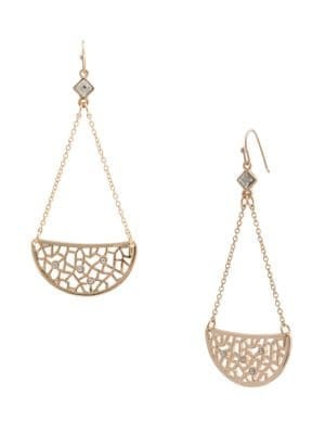 Lace Crescent Goldtone Earrings 500034162230