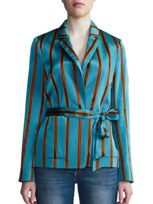 Striped Long-Sleeve Jacket...