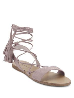 Savannah Lace-Up Leather Sandals by G.H. Bass