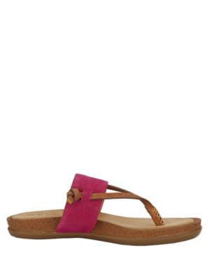 Shannon Suede Thong Sandals by G.H. Bass