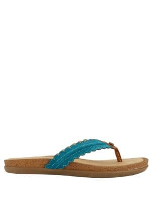Samantha Suede Thong Sandals by G.H. Bass