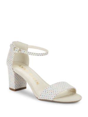 Camilla Studded Suede Sandals by Anne Klein