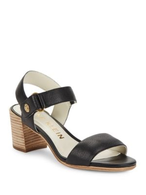 Jackie Leather Sandals by Anne Klein