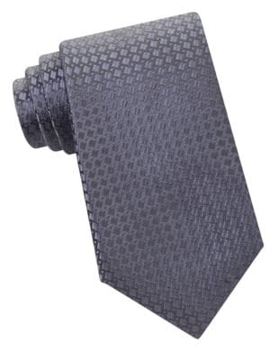 Geometric Split Square Silk Tie by MICHAEL MICHAEL KORS
