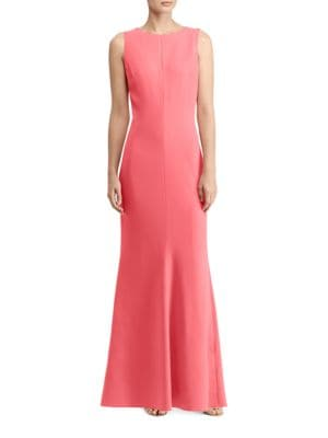Cutout Stretch Crepe Gown by Laundry by Shelli Segal