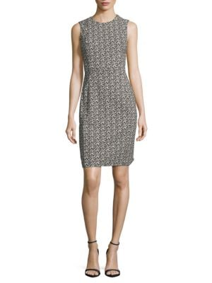 Patterned Knit Sheath Dress by Calvin Klein