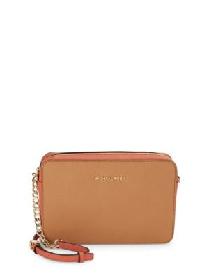 Embossed Leather Crossbody Bag by MICHAEL MICHAEL KORS