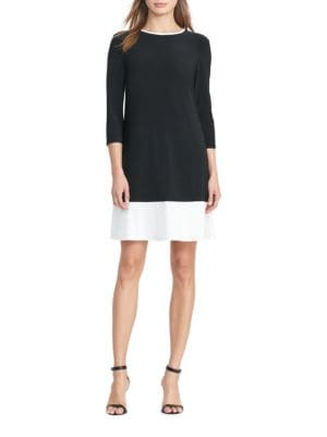 Two Toned Jersey Dress by Lauren Ralph Lauren
