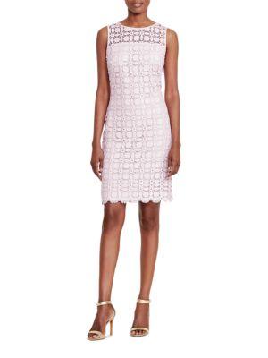 Geometric Lace Dress by Lauren Ralph Lauren