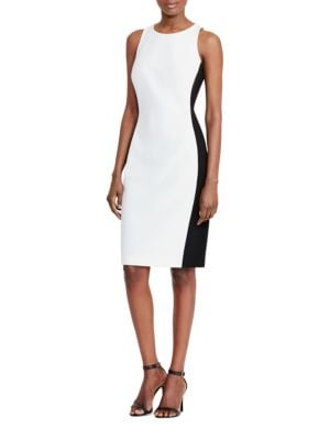 Color-Blocked Ponte Dress by Lauren Ralph Lauren