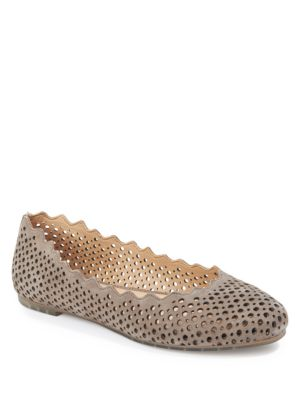 Carlee Perforated Round Toe Flats by Me Too