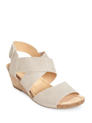 Toree Crisscross Wedge Sandals by Me Too