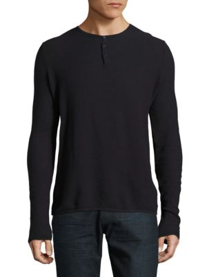 Summer Waffle Henley by Highline Collective