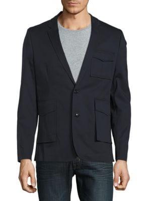 Fashion Patch Pocket Blazer by Highline Collective