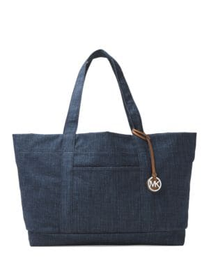 Logo Accent Cotton Handbag by MICHAEL MICHAEL KORS