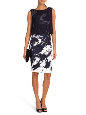 Della Printed Popover Dress by Phase Eight