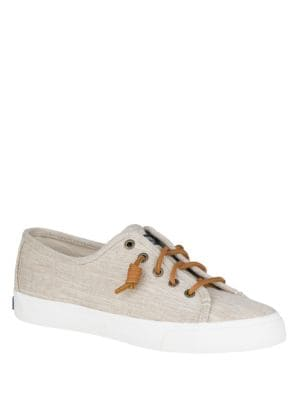Seacoast Linen Lace-Up Sneakers by Sperry
