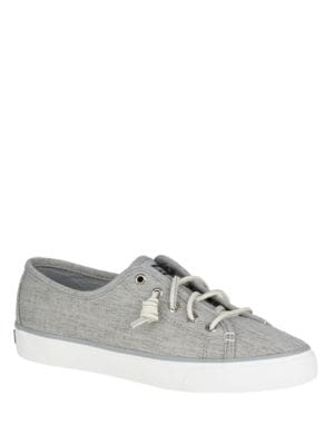 Seacoast Linen Round-Toe Sneakers by Sperry