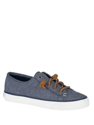 Seacoast Linen Chambray Sneakers by Sperry
