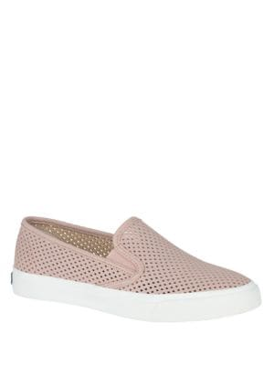 Seaside Perforated Leather Slip-On Sneakers by Sperry