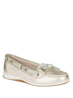 Dune Fish Metallic Leather Boat Shoes by Sperry