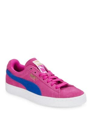Colorblocked Suede Low-Top Sneakers by PUMA