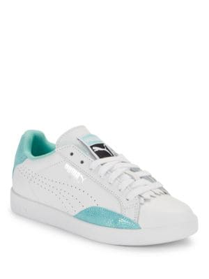 Match Lo Reset Contrast Leather Sneakers by PUMA