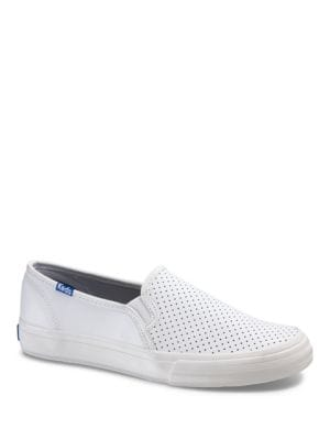 Double Decker Retro Court Perforated Leather Slip-On Sneakers by Keds