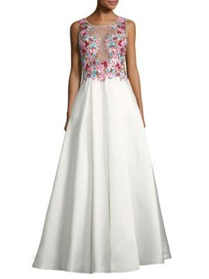 Embellished Full-Skirted Ball Gown by Basix