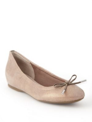 Bow Textured Ballet Flats by Rockport