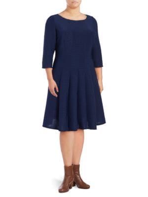 Pintuck Roundneck Dress by Gabby Skye