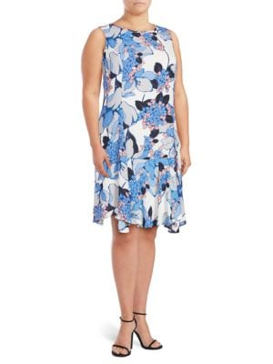 Floral-Print Ruffled Dress by Ivanka Trump