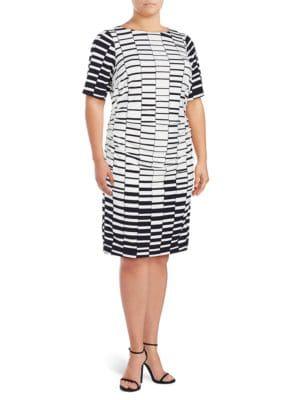 Printed Sheath Dress by DKNY
