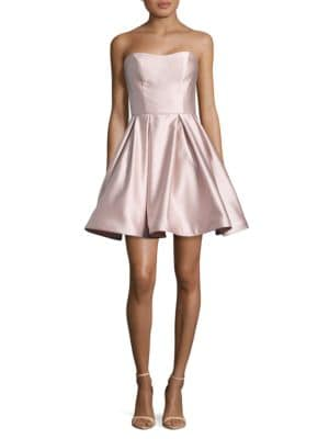 Strapless Satin Dress by Betsy & Adam