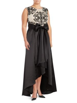 Sleeveless Hi-Lo Gown by Betsy & Adam