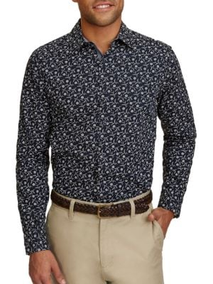 Floral Printed Cotton Shirt by Calvin Klein Jeans