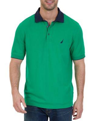 Stretch Pique Polo Shirt by Nautica