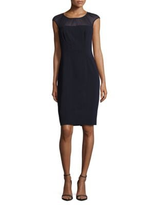 Solid Stretch Sheath Dress by Adrianna Papell