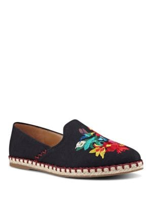 Unrico Embroidered Canvas Espadrilles by Nine West