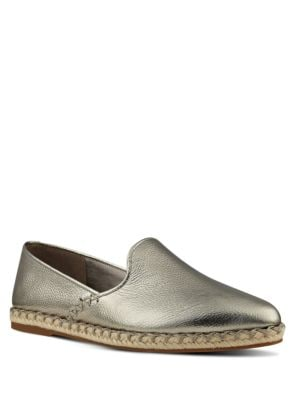 Unrico Metallic Leather Espadrilles by Nine West