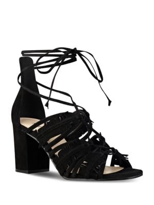 Photo of Genie Suede Lace-Up Sandals by Nine West - shop Nine West shoes sales