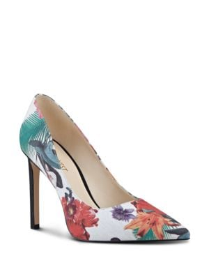 Tatiana Floral Canvas Pumps by Nine West
