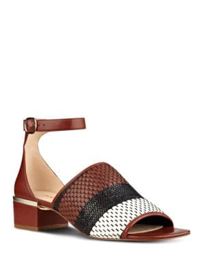 Yorada Woven Leather Sandals by Nine West